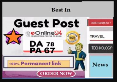 write & Publish  On Eonline24 [Dofollow backlink]