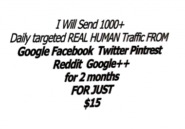 Guarantee Unlimited keyword Targeted daily visitors From Google,Youtube,Bing,Reddit,Linkdin For 60 days