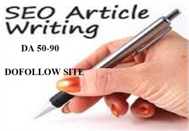 Free Offer - Write And Publish High Authority Guest Post  On 10x Dofollow Site DA 50 - 90