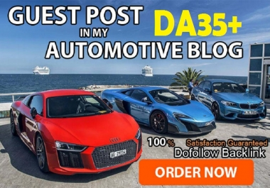 Guest post on Automotive niche DA35 Dofollow blog
