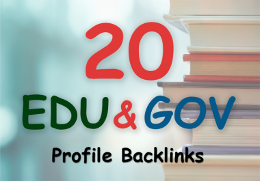 Manually build 20. edu and. gov safe seo friendly backlinks