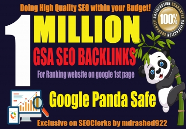 1 Million+ GSA SER SEO Backlinks for Increase Your Web Rank