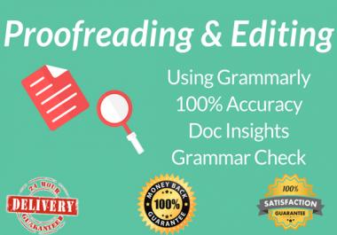 Proofread & Edit 500 words through Grammarly Premium Tool
