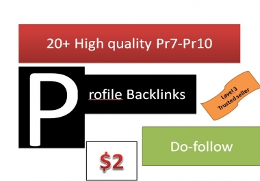 Get You 20+ high quality Profile back-links Manually create