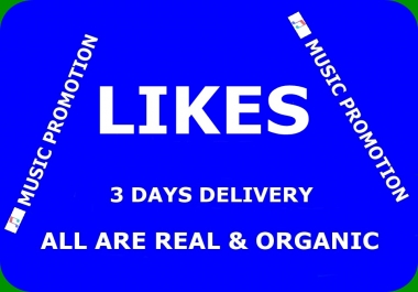 Music Promotion 1000 Likes With in 3 Days