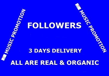 Music Promotion 1000 Followers With in 3 Days