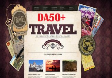 Guest Post On Da 50 Quality Travel niche Blog