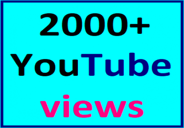1500-2000 High Quality Youtube Views Non Drop Refill Guaranteed Instant Start