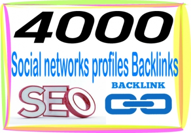 Rank On Google with 4000 Social networks Backlinks