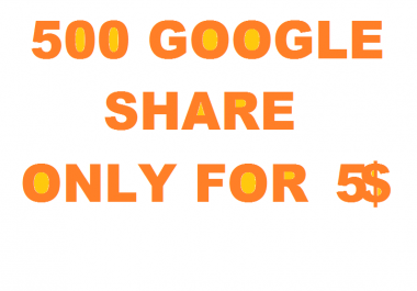 500 Genuine and super fast ,Basic google share,,