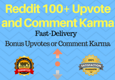 High Quality 100+ Reddit Upvotes Or Comment Karma