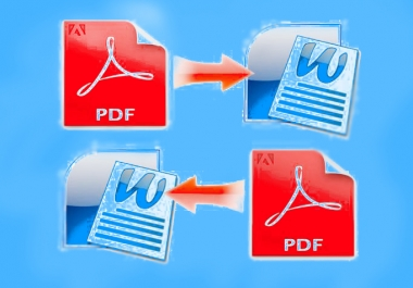Covert PDF to Word or Word to PDF Professionally