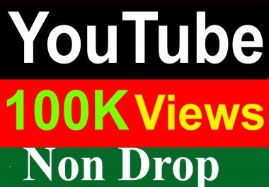 100000 / 100K YouTube Vieews High Quality Fully Safe