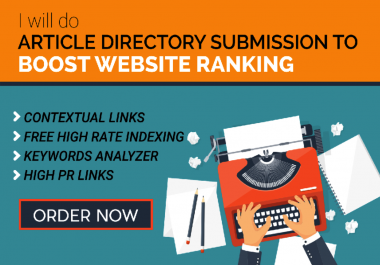 do 2000 Article Directories Backlinks from Contextual site
