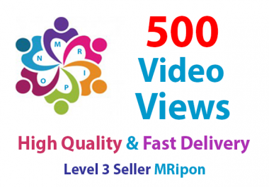 Get Instant 500 High Quality Organic Video Views