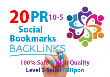 Manually 20 High PR DoFollow Social Bookmarks