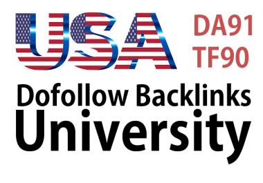Get USA Dofollow Backlinks from Illinois.edu, DA91, TF, 90