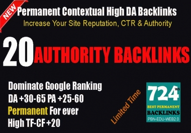22 Restricted Access High DA-PA 35-70 PBN Permanent Contextual DOFOLLOW Backlinks