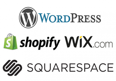 I will create or redesign Wix, Squarespace, Wordpress, Shopify website