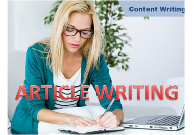 Write a professional blog or article