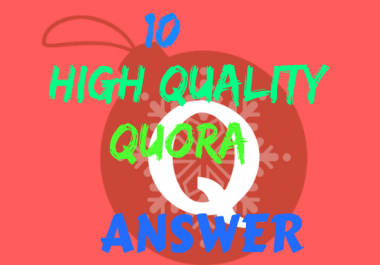 Get Targeted traffic with 10 High Quality Quora Answer