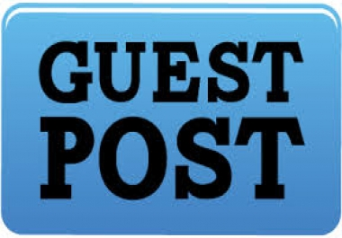 Publish 5 High Authority Sites Guest Posts With Permanent Links