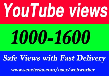 1000-1600 YouTube Views with extra service 1000 1k 2k 3k 4k 5k 6k 7k 8k 9k 10K 15K 20K 25K 40K 50K 100K Or 3000 4000 5000 6000 7000 8000 9000 10000 20000 30000 40000 200K 500K