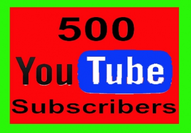 500 + Real youtube subs  cribers life time guaranteed