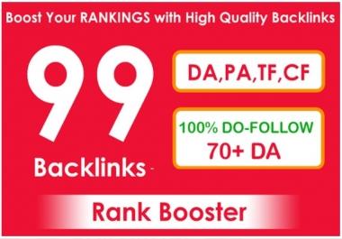 Add 99 SEO Backlinks To Get Google Top Ranking