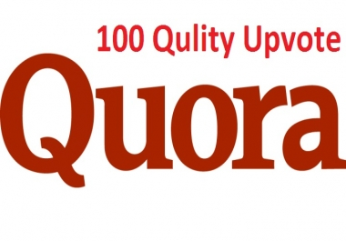 Get manually 100 Worldwide Quora UpVotes or followers
