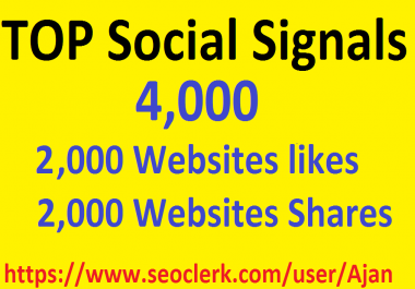 4,000 Social Signals From Top 1 Social Media Websites Increase Your SEO Ranking