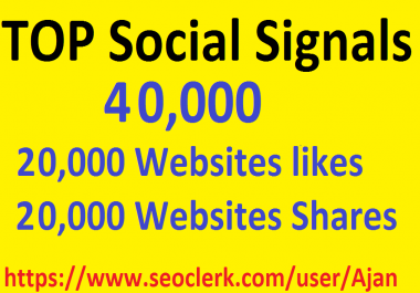 40,000 Social Signals From Top 1 Social Media Websites Increase Your SEO Ranking