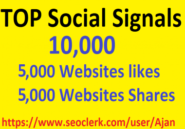 10,000 Social Signals From Top 1 Social Media Websites Increase Your SEO Ranking
