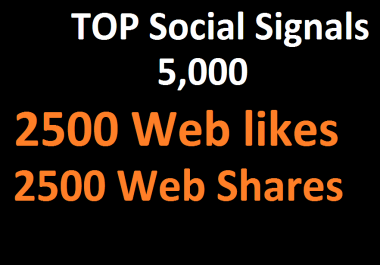 5,000 Social Signals From Top 1 Social Media Websites Increase Your SEO Ranking