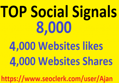 8,000 Social Signals From Top 1 Social Media Websites Increase Your SEO Ranking
