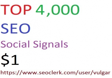 4,000 Social Signals From Top 3 Social Media Websites Increase Your SEO Ranking