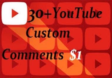 Add 30+ USA You+Tube Custom Com.ment Or 30 Human real Llke