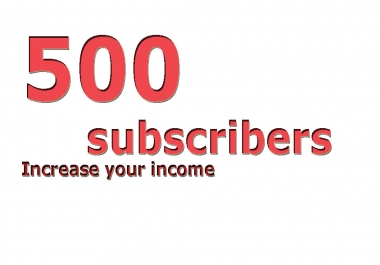 500 real active youtube subscribers