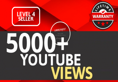 5000 To 6000 YouTube VIEWS HIGH RETENTION Instant Start Fully safe Guaranteed