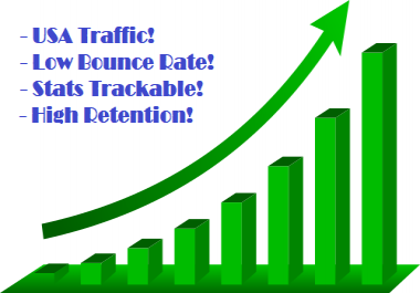 Low Bounce Rate USA Google Trackable Web Traffic