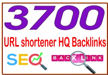 Get 3700 URL shortener High PR4-PR7 Highly Authorized Google Dominating Backlinks