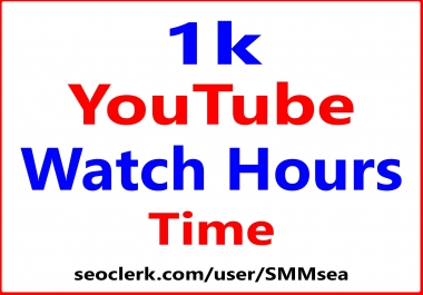 Boost YouTube Watch Hours Time Real Promotion