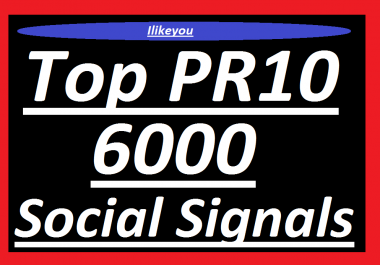 Top 1 PR10 Social Media 6000 Share Social Signals / Bookmark / Backlinks / Rank Google First Page