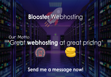 Blooster Webhosting - Master Reseller Hosting - Low Server Loads!