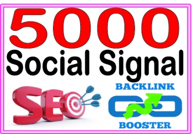 Create 5000 Social Signal Highly Authorized Google Dominating Backlinks