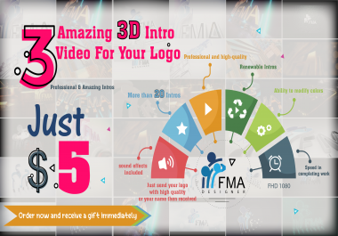 3 Amazing 3d Intro Video For Your Logo Or Name