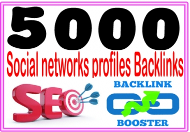 Do 5000 Social networks profiles backlinks- High PR Metrics Backlinks