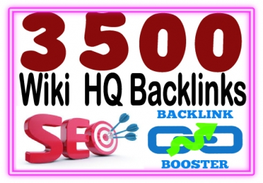 Add 3500 Wiki backlinks- include. mix profiles & articles- High PR Metrics Backlinks