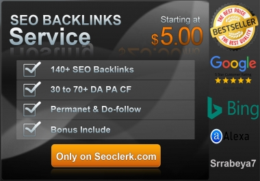 Create Do-follow 200 SEO Backlinks from high DA PA CF TF