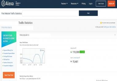 Improve Global alexa rank 199k and USA alexa rank 20k